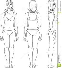 female template for fashion design front side back - Google Search