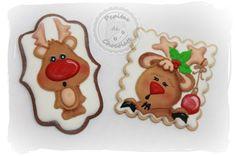 Galletas Navidad, renos. Christmas cookies, reindeer