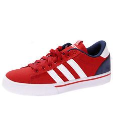mens adidas neo st red white daily low canvas trainers shoes size
