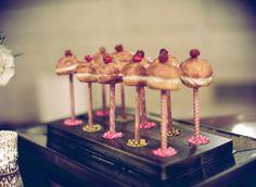 bridal shower mini strawberry shortcakes on sticks