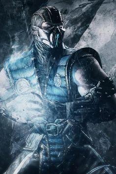 Mortal Kombat Sub-Zero art Mortal Kombat Xl, Scorpion Mortal Kombat, Mortal Kombat X Wallpapers, Rukia Bleach, Mundo Dos Games, Fighting Games, Video Game Art, Geek Culture, Fantasy Artwork