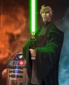 Luke skywalker by star wars portraits and c Star Wars Fan Art, Kit Fisto, Starwars, Star Wars Personajes, Star Wars Images, Star Wars Jedi, Star Wars Poster, Last Jedi, Love Stars