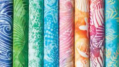 Love this pretty batiks for summer fun and quilting!