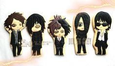 original art credit to hirooyuuki.deviantart, custom cookies by @bittersweetjkt   #decoratedcookies #royalicing #kukishias #cookiesjakarta #fanmade #ディルアングレイ #direngrey #vkei #japanmusic #japanesemetal #DIE #薫 #京 #shinya #toshiya