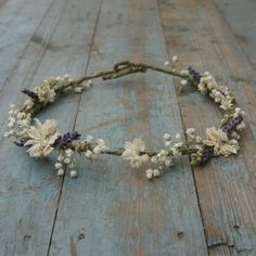 Our handmade dried flower hair crowns are a great alternative for creating a wild, bohemian look to your wedding. They are made on a lightweight covered wire base, which will easily mould to the shape of the head with two loops at the back which can be easily adjusted. Our Babys Breath Crown, Babys Breath Hair, Babys Breath Flowers, Flower Crown Hairstyle, Crown Hairstyles, Wedding Hairstyles, Hair Crown, Flowers In Hair, Dried Flowers
