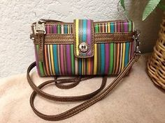 434dd3ac9526 Relic Vicky Multi Function Crossbody Wallet Clutch Multi Color Striped