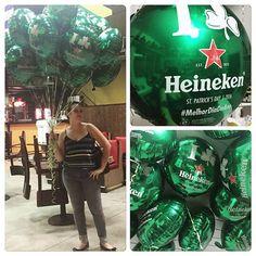 Muitos balões de gás para a sexta-verde do @nocanto, que com patrocínio da Heineken comemora hj o St. Patrick's Day 2016! #nocanto #heineken #stpatricksday #gashelio #ratchimbum