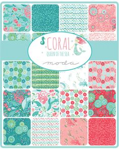 Coral Queen of the Sea Mini Charm Pack