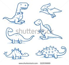 Drawing Doodles Sketches Cute little cartoon dinosaurs for children, hand drawn vector doodle - Dinosaur Sketch, Dinosaur Drawing, Cartoon Dinosaur, Cute Dinosaur, Cartoon Drawings, Cute Drawings, Doodle Cartoon, Cartoon Trees, Drawing For Kids