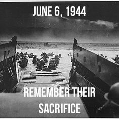 On this anniversary of D-Day, pause to remember those who fought for the liberty of others; especially those who made the ultimate sacrifice.