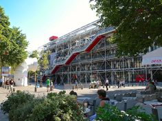 Paris, France. Centre Georges Pompidou... remains in Paris as a controversial architectural project achieved in the late seventies. It was designed in the style of high-tech architecture by the architectural team of Richard Rogers and Renzo Piano. Photo by Pol Bacquet