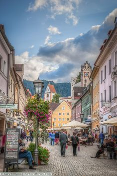 Reichenstraße - the high street, füssen,bavaria, germany. Visit Germany, Germany Travel, Germany Europe, In Germany, Places Around The World, Travel Around The World, Around The Worlds, Places To Travel, Places To See