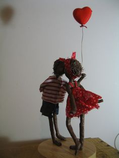 Will You be my Valentine. Mixed media por Stephaniessculptures