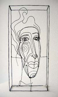 Diane Komater - HS wire portrait