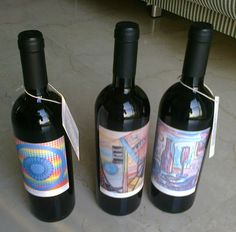Bottiglie in tiratura limitata con disegni del pittore Ermanno Besozzi