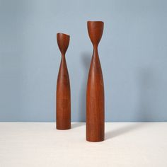 Vintage Danish Modern Turned Wood Candle Sticks Holders by MidModMomStore on Etsy https://www.etsy.com/listing/188602629/vintage-danish-modern-turned-wood-candle