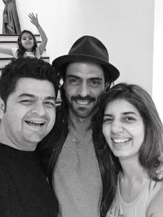 Arjun Rampal - & daughter Myra in back