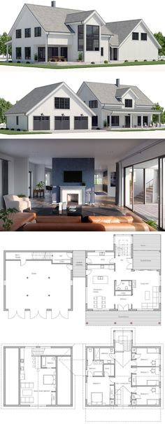 Moderne Stadtvilla Neubau mit Büro Anbau, Holzfassade  Walmdach
