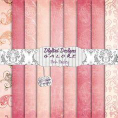 Pink Paisley Digital Paper Pack $3.99
