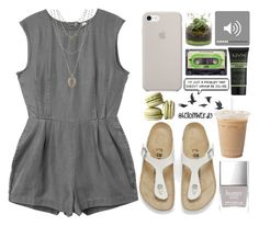 """""""April's Child"""" by helloimweird13 ❤ liked on Polyvore featuring Birkenstock, RVCA, Butter London, NYX, Lucky Brand and Jayson Home"""