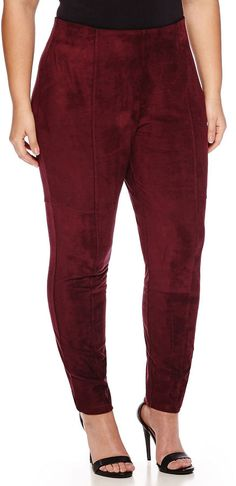 WORTHINGTON Worthington Stretch Suede Leggings - Plus *** Find out more about the great product at the image link.