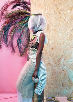 New York Magazine's The Cut sent Swiss photographer Namsa Leuba a trunk of designer clothes and let her run free with them. Leuba did just that, and then some. African Queens is the magnificently ornate and creative result—a high fashion representation of African statuettes.