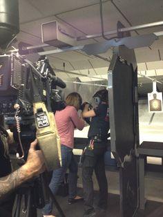 Natasha, Machine Gun America's Chief Range Officer, overseeing the CNN crew's MGA experience.