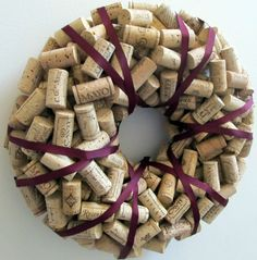 Recycled cork wreath