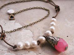 Elegant Romantic Necklace / Rustic Earthy Necklace by MissieRabdau, $88.00