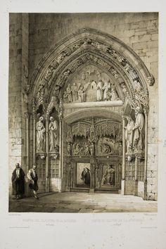España Artística y Monumental /. Puerta del claustro de la Catedral de Burgos