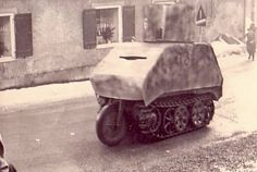 A Kettenkrad modified with armor protection from snipers.