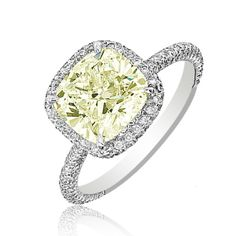 Cushion & Round Cut Diamond Anniversary Ring 14k White Gold 2.26 TCW Pave Style