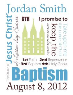 Free LDS baptism printables- made in Word do you can customize with your own name and date before printing from home!