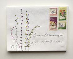 Hand Lettering Envelopes, Mail Art Envelopes, Calligraphy Envelope, Envelope Art, Envelope Design, Addressing Envelopes, Calligraphy Fonts, Script Fonts, Pen Pal Letters