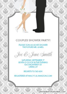 Couples Shower Invitation / Engagement Party Invite