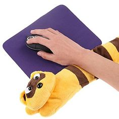 iGrove PC Laptop USB Hand Warmer Heating Cute Little Raccoon Elongated Shape Hand Warming Mat Heating Mat for Wrist iG-1167 ** To view further for this item, visit the image link.