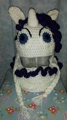Rarity inspired hat and cowl