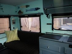 I purchased this caravan July of I have redone everything. This caravan was completely gutted and redone. Pop Up Caravan, Caravan Ideas, Camper World, Folding Campers, Caravan Makeover, Remodeled Campers, Camper Trailers, Restoration, This Is Us
