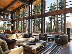 52 Modern Mountain Home Interior Design Fabulous mountain modern retreat in the High Sierras Mountain Home Interiors, Modern Mountain Home, Mountain Homes, Mountain Cabins, Modern Interior, Home Interior Design, Modern Furniture, Plywood Furniture, Interior Doors