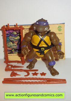 teenage mutant ninja turtles DONATELLO DON 1988 vintage complete tmnt playmates toys
