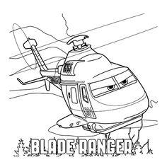 Leuk voor kids kleurplaat ~ Blade Ranger de helicopter
