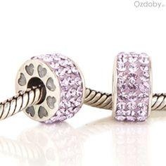 Różowe koraliki do biżuterii modułowej