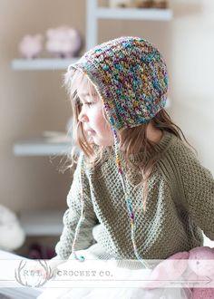 Crochet Isabella Bonnet pattern by La tienda de Paloma