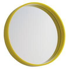 AIMEE Yellow round wall mirror D41cm   Buy now at Habitat UK