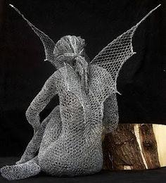 Wire Sculpture   By amazing artist Derek Kinzett...