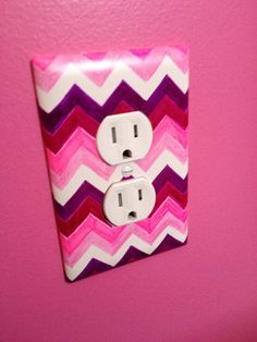Outlet cover + 4 Sharpies = Ombré Awesomeness!!