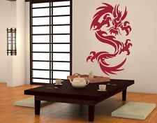 Dragon Ornament Wall Decal, sticker, mural home decor