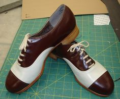 Custom Capezio K360s (made by Dancing Fair in Minnesota). I'm posting these as incentive: I would like to tap enough, and be good enough, to actually need shoes like this.