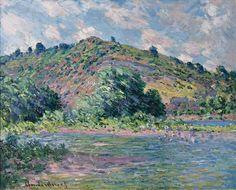 The Banks of the Seine at Port-Villez 1885 Claude Monet