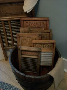 Bucket of washboards